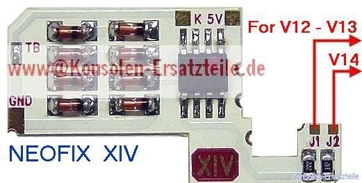 Neo Fix XIV für PS2 PV12-V14 Dioden-Matrix Schutz
