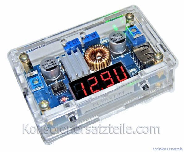 Spannungsregler mit Gehäuse KSQ 36V/5A LED Anzeige für Spannung ...