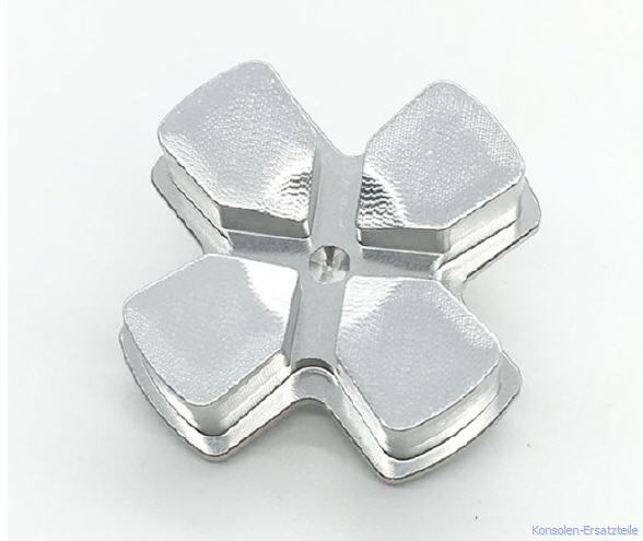 silber, silver, PS4 Controller Button Metall Steuerkreuz d-pad, ps4-controller-button-metall-steuerkreuz-d-pad