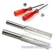 Nintendo Sicherheits Schraubendreher Set 4 teilig, Gameboy, 3,8mm + 4,5mm Bits GameCube GameBoy N64 SNES Sega